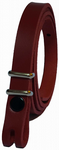 "12.5 mm Red Snap Fit Leather Belt (½"")"